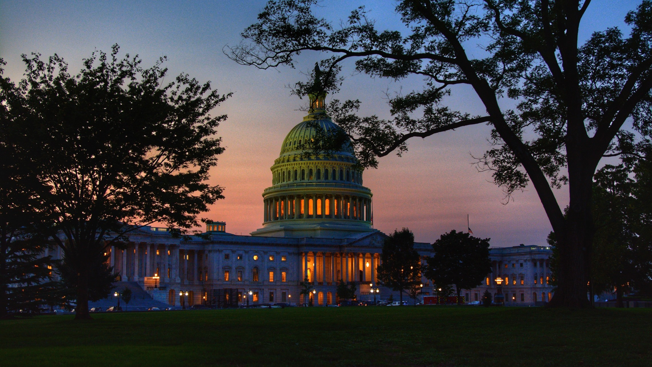 photo of US Capitol building at dusk