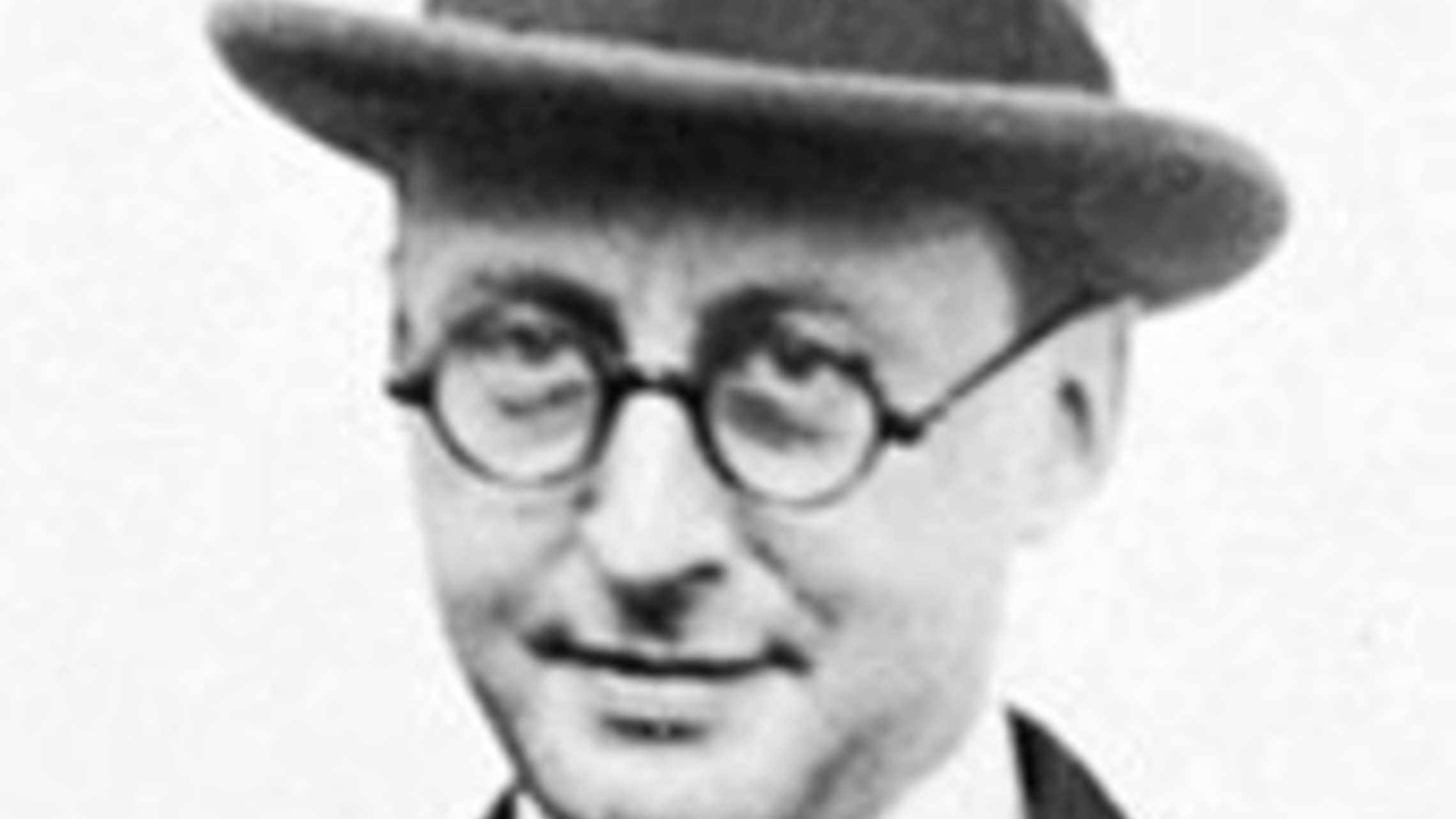 black and white photograph of composer Jerome Kern