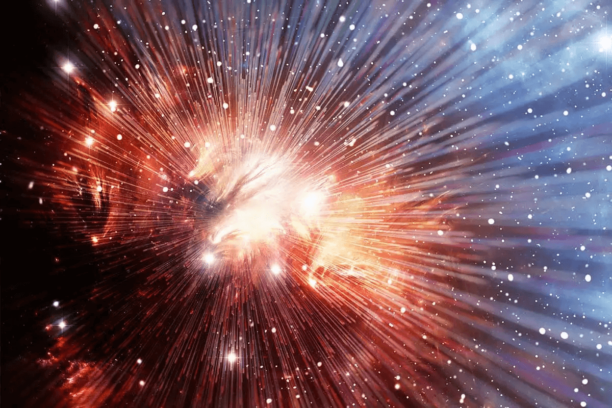 starlight bursts from a nebula in outer space